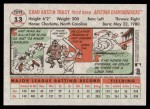 2005 Topps Heritage #13  Chad Tracy  Back Thumbnail