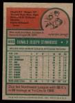 1975 Topps Mini #493  Don Stanhouse  Back Thumbnail