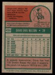 1975 Topps Mini #435  Dave Nelson  Back Thumbnail