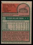 1975 Topps Mini #241  Dick Tidrow  Back Thumbnail