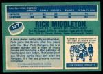 1976 O-Pee-Chee NHL #127  Rick Middleton  Back Thumbnail