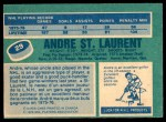 1976 O-Pee-Chee NHL #29  Andre St.Laurent  Back Thumbnail
