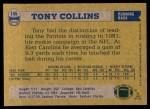 1982 Topps #146  Tony Collins  Back Thumbnail