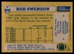1982 Topps #87  Bob Swenson  Back Thumbnail
