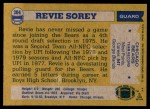 1982 Topps #304  Revie Sorey  Back Thumbnail