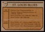 1973 Topps #105   Blues Team Back Thumbnail