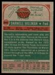 1973 Topps #244  Darnell Hillman  Back Thumbnail