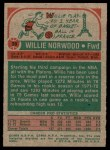 1973 Topps #39  Willie Norwood  Back Thumbnail