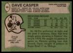 1978 Topps #50  Dave Casper  Back Thumbnail