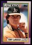 1990 Topps #639  Tony La Russa  Front Thumbnail