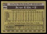 1990 Topps #627  Jose Rijo  Back Thumbnail