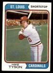 1974 Topps #655  Mike Tyson  Front Thumbnail