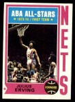 1974 Topps #200  Julius Erving  Front Thumbnail