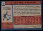 1974 Topps #56  Steve Mix  Back Thumbnail
