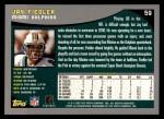 2001 Topps #59  Jay Fiedler  Back Thumbnail