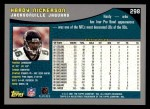 2001 Topps #298  Hardy Nickerson  Back Thumbnail