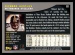 2001 Topps #81  Richard Huntley  Back Thumbnail