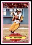 1980 Topps #445  Pat Haden  Front Thumbnail