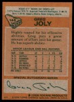 1978 Topps #148  Greg Joly  Back Thumbnail