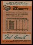 1978 Topps #185  Fred Barrett  Back Thumbnail