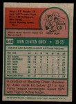 1975 Topps Mini #546  John Knox  Back Thumbnail