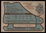 1979 Topps #172  Gregg Sheppard  Back Thumbnail