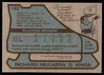 1979 Topps #133  Richard Mulhern  Back Thumbnail