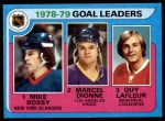 1979 Topps #1   -  Mike Bossy / Marcel Dionne / Guy LeFleur Goal Leaders Front Thumbnail