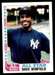 1982 Topps #553   -  Dave Winfield All-Star Front Thumbnail