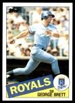 1985 Topps #100  George Brett  Front Thumbnail