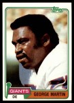 1981 Topps #225  George Martin  Front Thumbnail