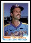 1982 Topps #52  Larry Andersen  Front Thumbnail