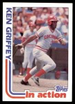 1982 Topps #621   -  Ken Griffey In Action Front Thumbnail