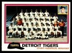 1981 Topps #666   Tigers Team Checklist Front Thumbnail