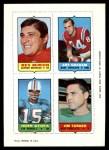 1969 Topps 4-in-1 Football Stamps  Rex Mirich / Art Graham / John Stofa / Jim Turner  Front Thumbnail
