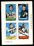 1969 Topps 4-in-1 Football Stamps  Bob Griese / Jim LeMoine / Walt Sweeney / Dave Grayson  Front Thumbnail