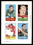 1969 Topps 4-in-1 Football Stamps  Joe Scarpati / Walter Rock / Bernie Casey / Jack Concannon  Front Thumbnail