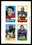 1969 Topps 4-in-1 Football Stamps  Larry Stallings / Roosevelt Taylor / Bob Brown / Jim Gibbons  Front Thumbnail