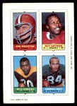 1969 Topps 4-in-1 Football Stamps  Jim Houston / Roy Shivers / Bill Asbury / Carroll Dale  Front Thumbnail