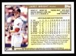 1999 Topps #112  Jaret Wright  Back Thumbnail