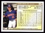 1999 Topps #386  Jose Cruz Jr.  Back Thumbnail