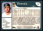 2001 Topps #67  Eric Chavez  Back Thumbnail