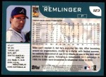 2001 Topps #123  Mike Remlinger  Back Thumbnail