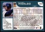 2001 Topps #269  Richard Hidalgo  Back Thumbnail