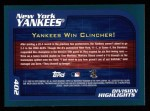 2001 Topps #402   New York Yankees Back Thumbnail