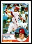 1983 Topps #16  George Vuckovich  Front Thumbnail