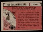 1980 Topps #477  Joe DeLamielleure  Back Thumbnail