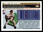 1996 Topps #262  Tom Glavine  Back Thumbnail