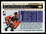 1996 Topps #395  Rafael Palmeiro  Back Thumbnail