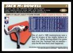 1996 Topps #203  Jack McDowell  Back Thumbnail